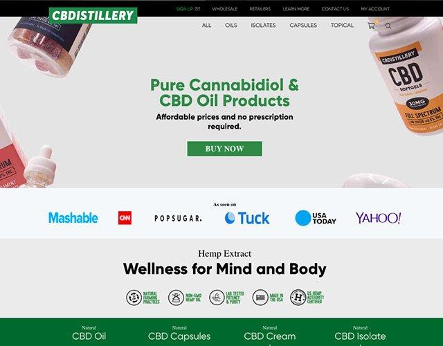 CBDistillery-Bewertungen: Anbieter-Screenshot.